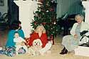 Monika holding Katharine, me holding Buddy, Mom holding Neko