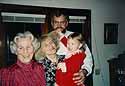 Fred, Mom, little Katharina and I