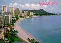flying over the beaches of Honolulu