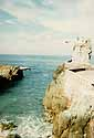 Mazatlan - prof. diver jumping from the rocks
