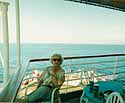 My mother - spending the day at sea
