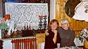 christmas 2002 - my sister-inlaw karin and i in their wonderful country kitchen