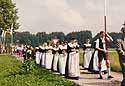 *Fronleichnam* - bavarian catholic custom - women in their folklore clothes