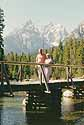 Wyoming, Yellowstone Park - surrounded by majestic background
