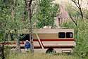 camping area around the Grand Tetons