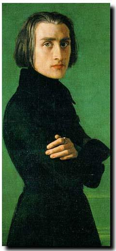 portrait of Franz Liszt (1811-1886)